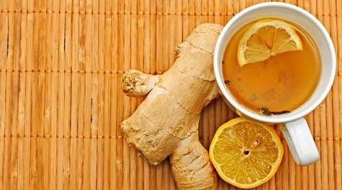 chá de limão com mel e gengibre